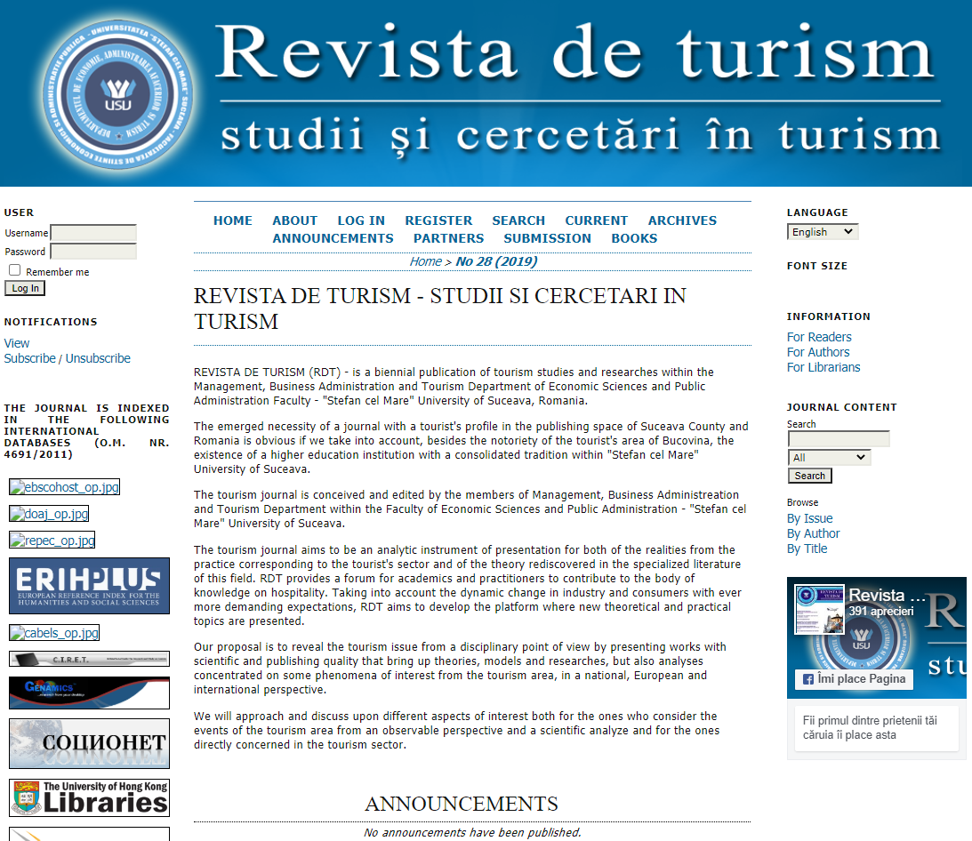 Revista de turism